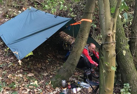 woodland wild camping
